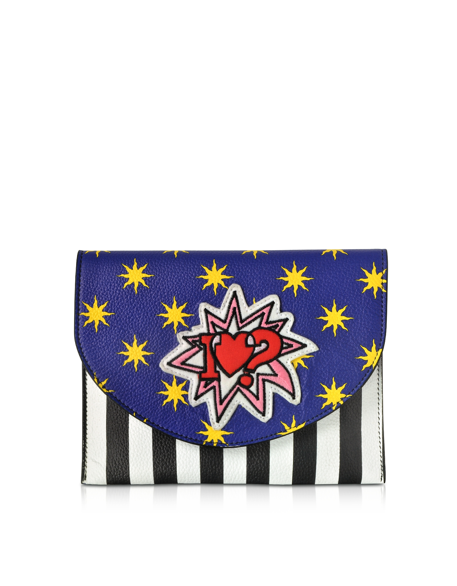 Alessandro Enriquez Handbags, Miracle Pop Love Leather Clutch