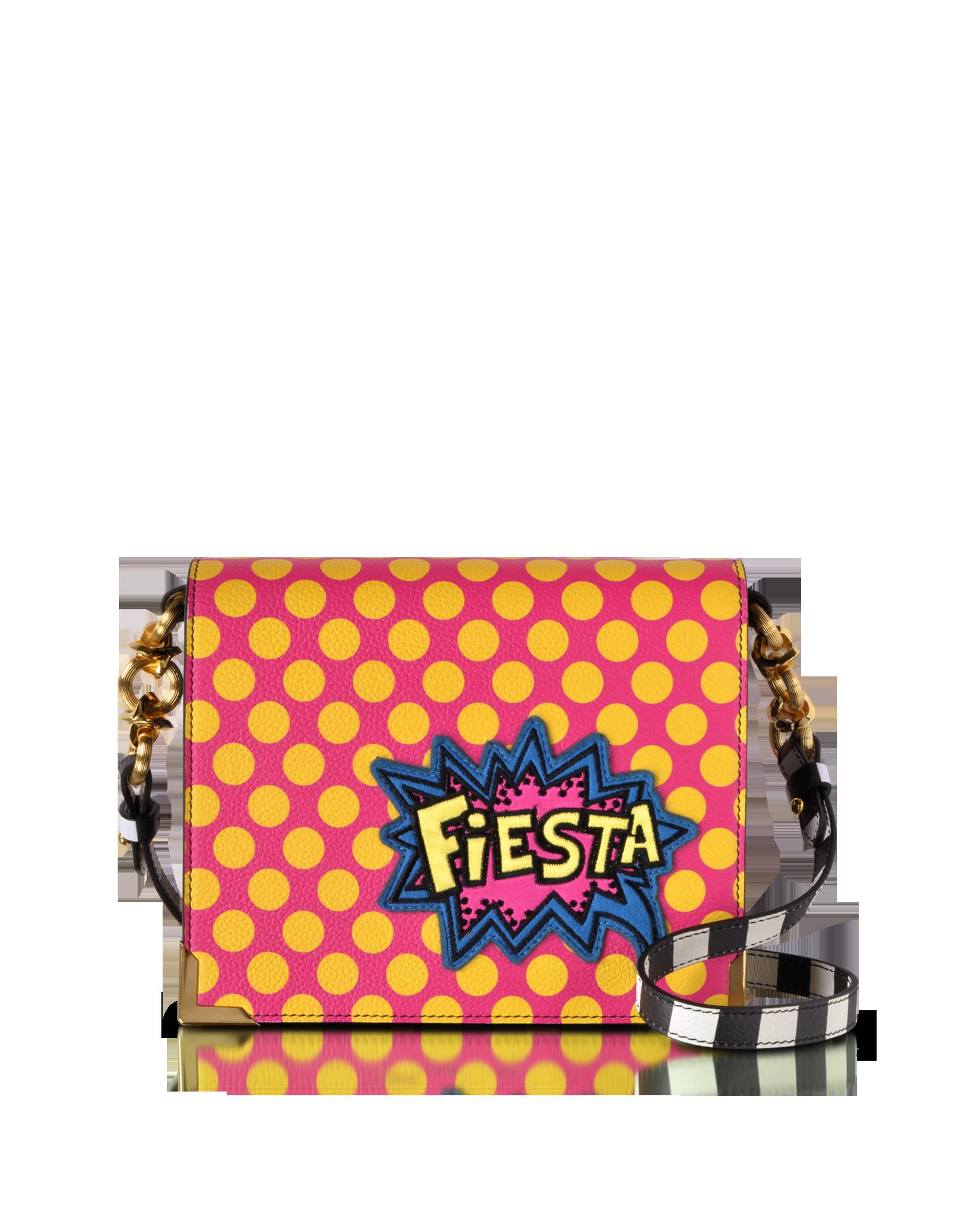 Image of Hera Pop Fiesta Leather Shoulder Bag