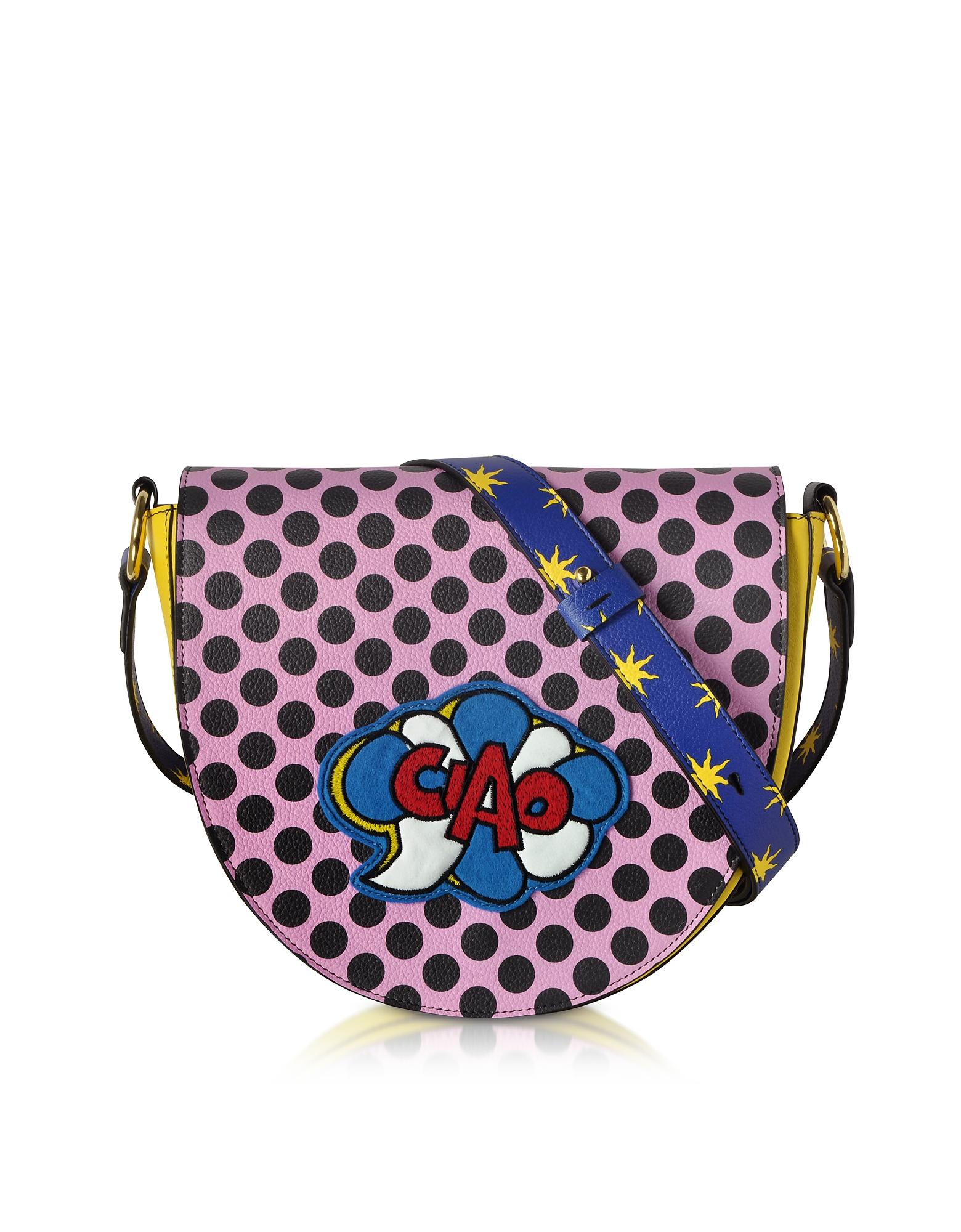 Alessandro Enriquez Handbags, Hebe Pop Ciao Leather Shoulder Bag