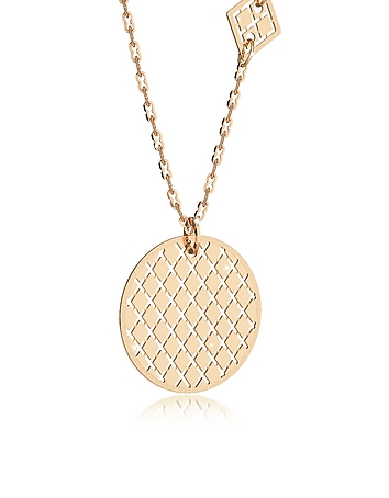 Rebecca - Melrose Yellow Gold Over Bronze Necklace w/Geometric Charms
