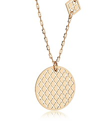Melrose Yellow Gold Over Bronze Necklace w/Geometric Charms - Rebecca