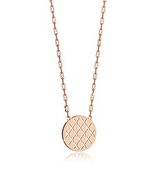 Melrose Rose Gold Over Bronze Necklace w/Round Charm - Rebecca