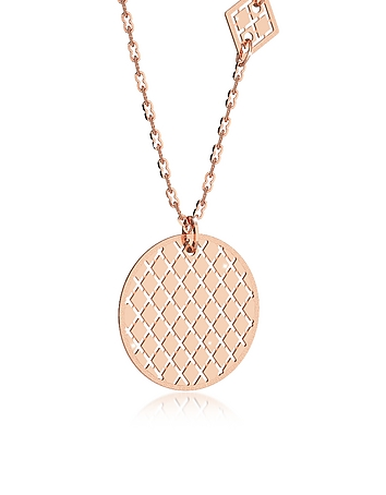 Rebecca - Melrose Rose Gold Over Bronze Necklace w/Geometric Charms