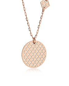 Melrose Rose Gold Over Bronze Necklace w/Geometric Charms - Rebecca