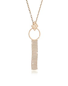 Melrose Yellow Gold Over Bronze Cuff Necklace w/Geometric Charms - Rebecca
