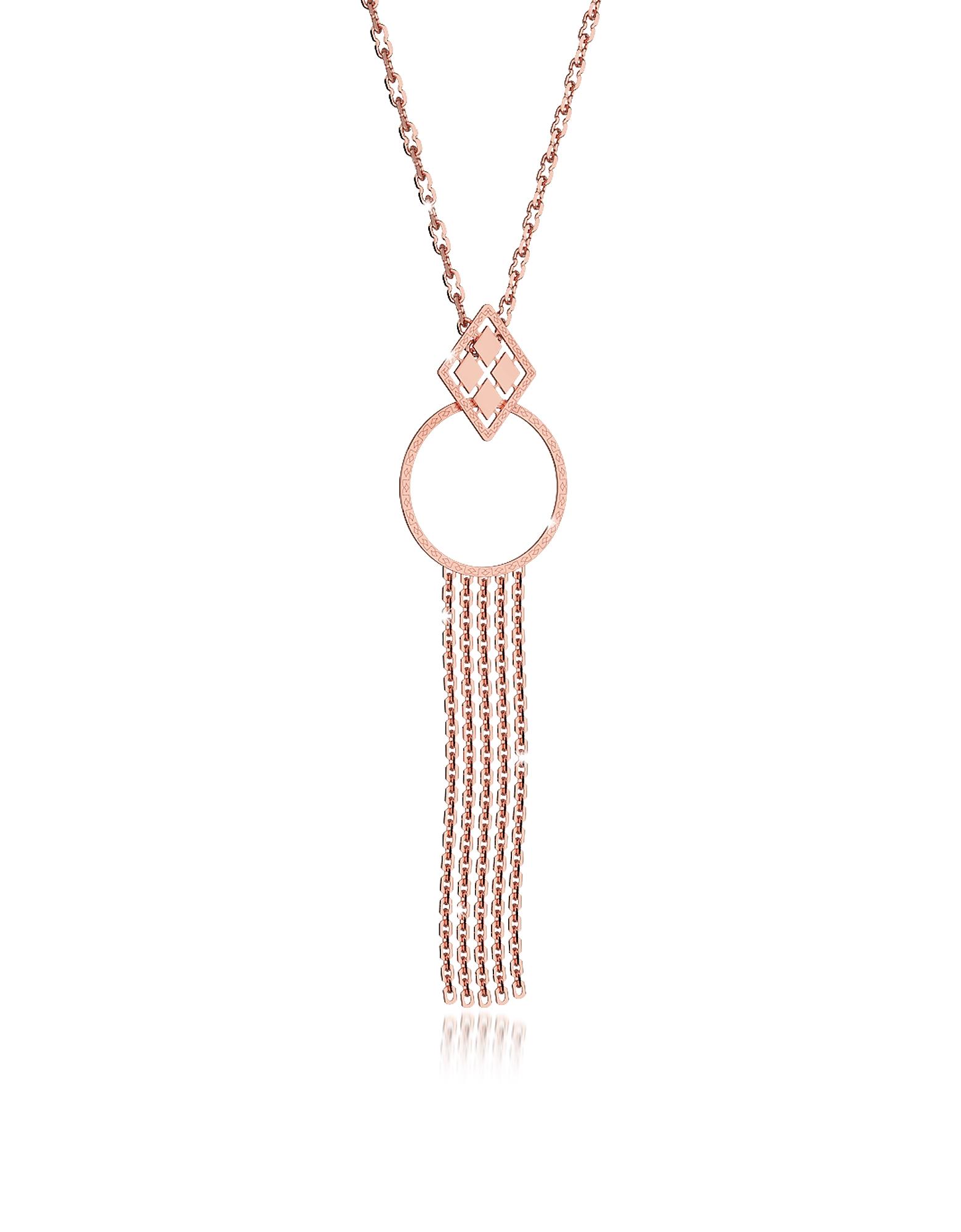 Melrose - Ожерелье из Бронзы с Напылением Розового Золота с Геометрическими Чармами