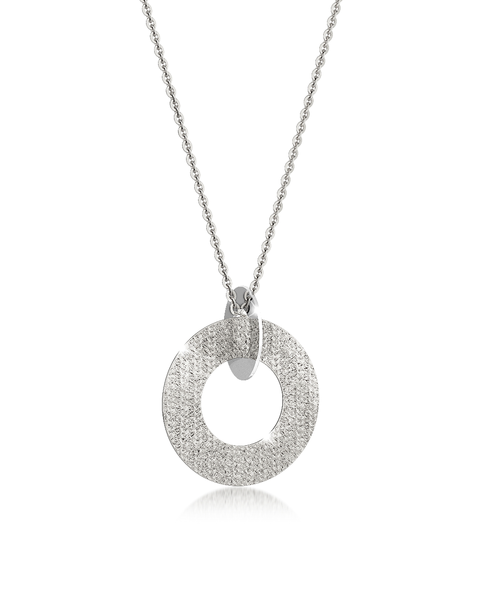 R-Zero - Длинное Ожерелье из Бронзы с Родиевым Покрытием и Стали