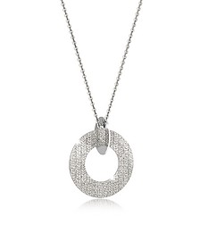R-Zero Rhodium Over Bronze and Steel Long Necklace - Rebecca