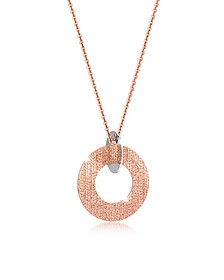 R-Zero Rose Gold Over Bronze and Steel Long Necklace - Rebecca