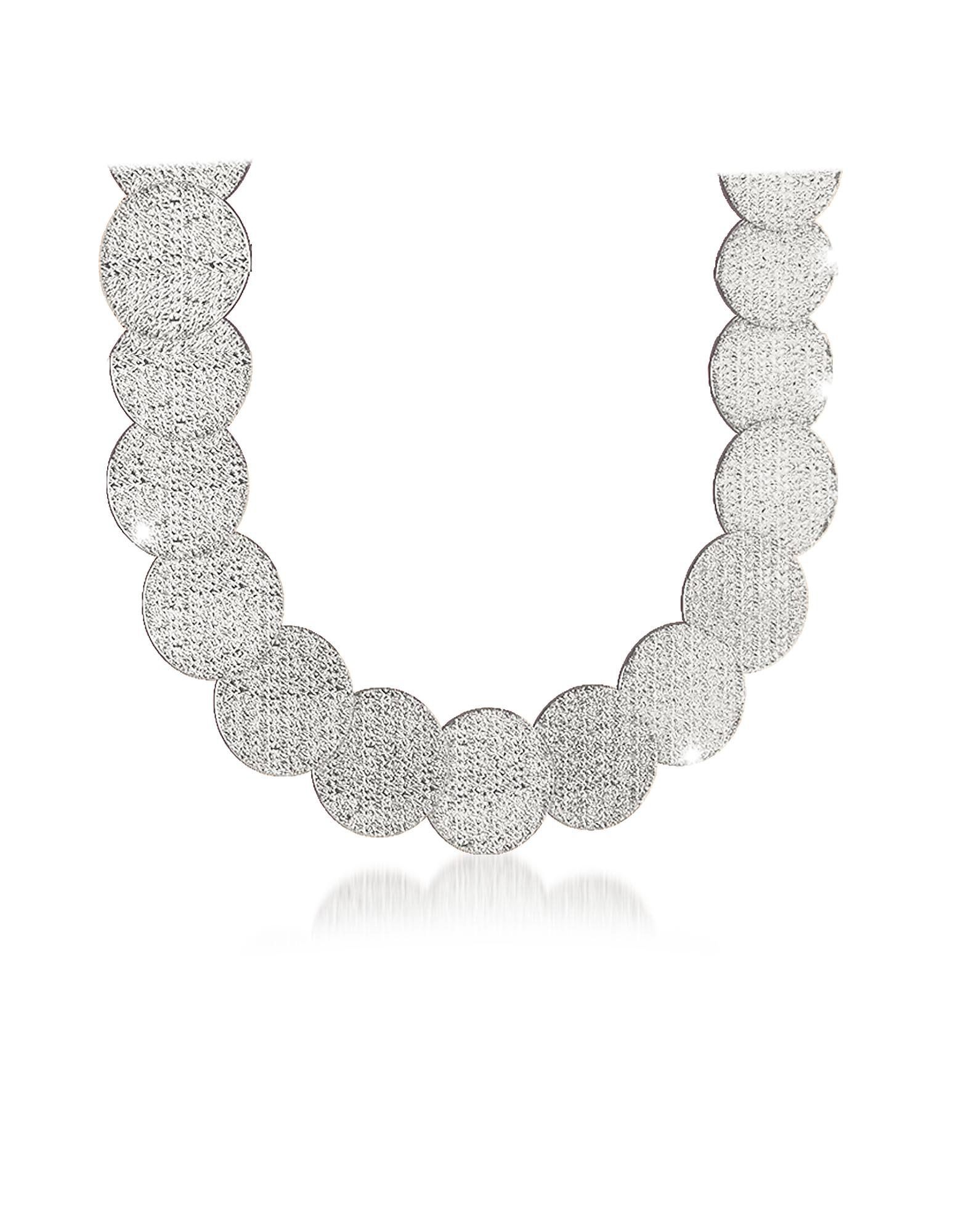 R-ZERO Rhodium Over Bronze Necklace, Silver