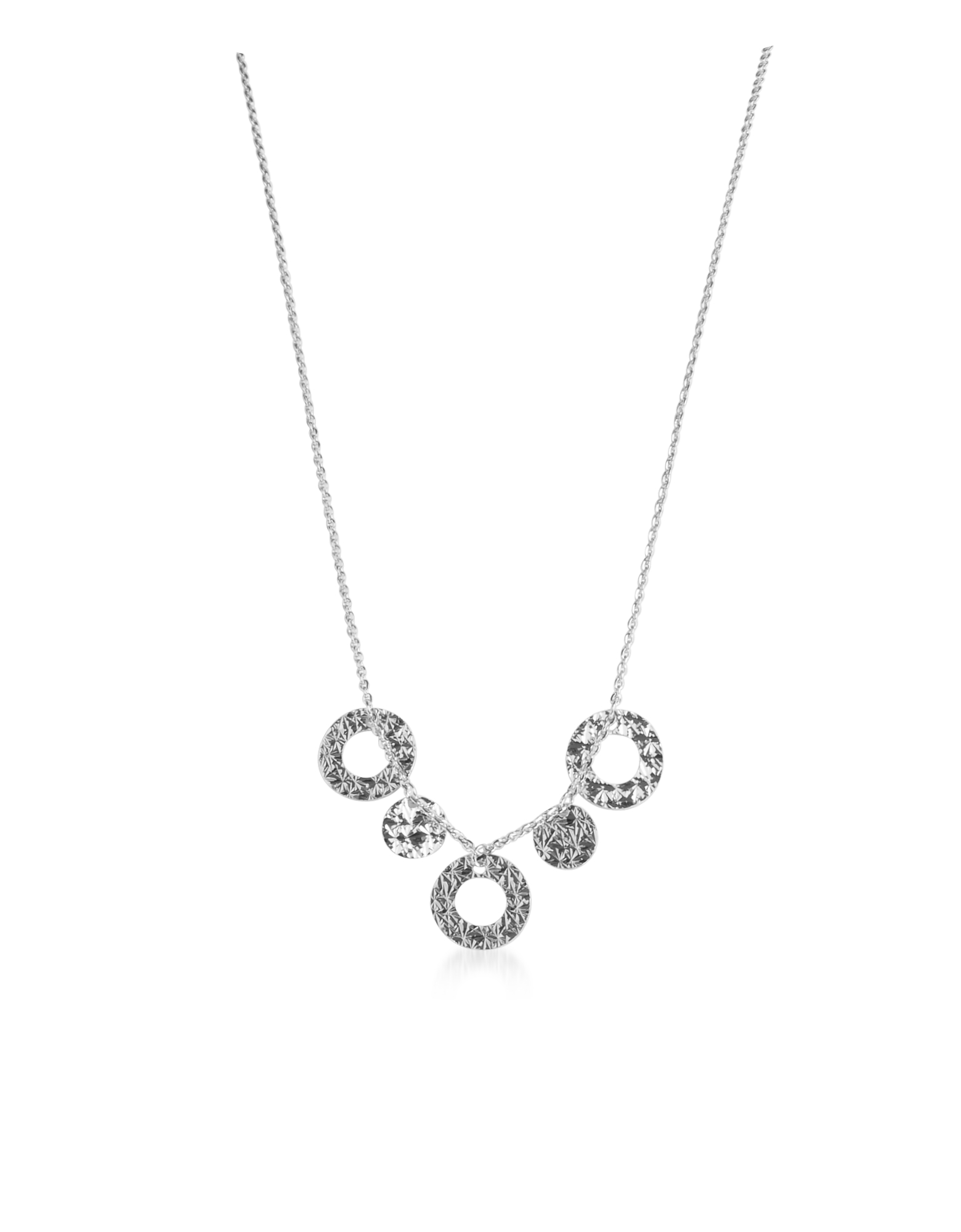Rebecca Designer Necklaces, R-ZERO Rhodium Over Bronze Necklace
