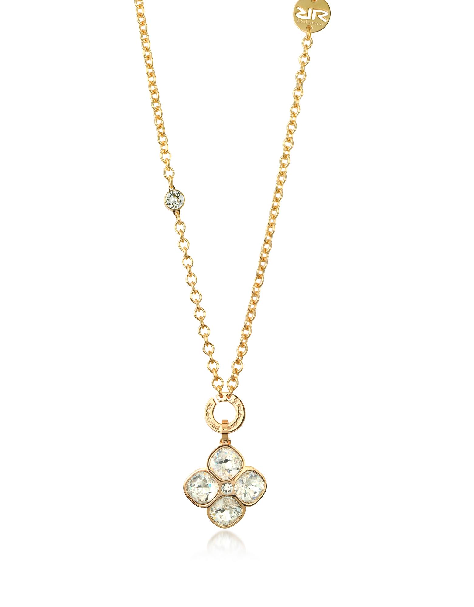 Candy - Ожерелье из Золота 18 карат на Бронзе с Чармом-Цветком