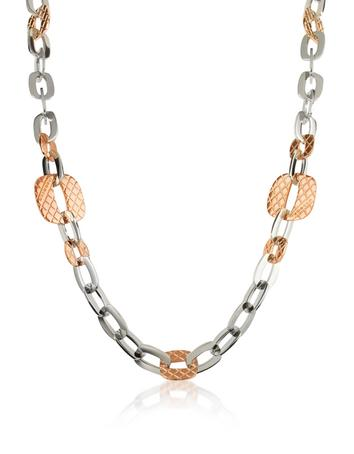Rebecca Melrose - Gold Plated Bronze Link Chain Necklace