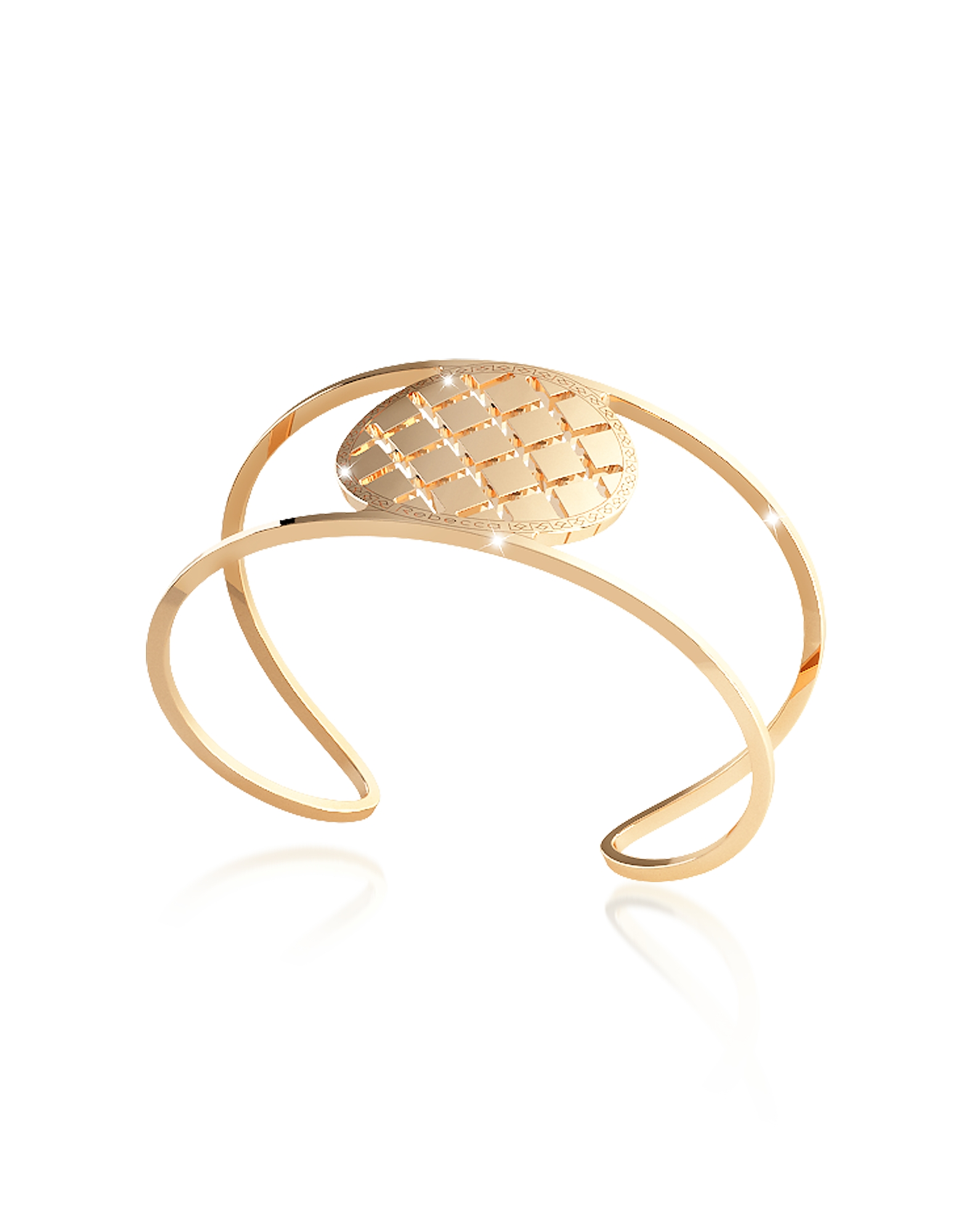 Rebecca Bracelets, Melrose Yellow Gold Over Bronze Cuff Bracelet