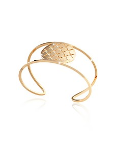 Melrose Yellow Gold Over Bronze Cuff Bracelet - Rebecca