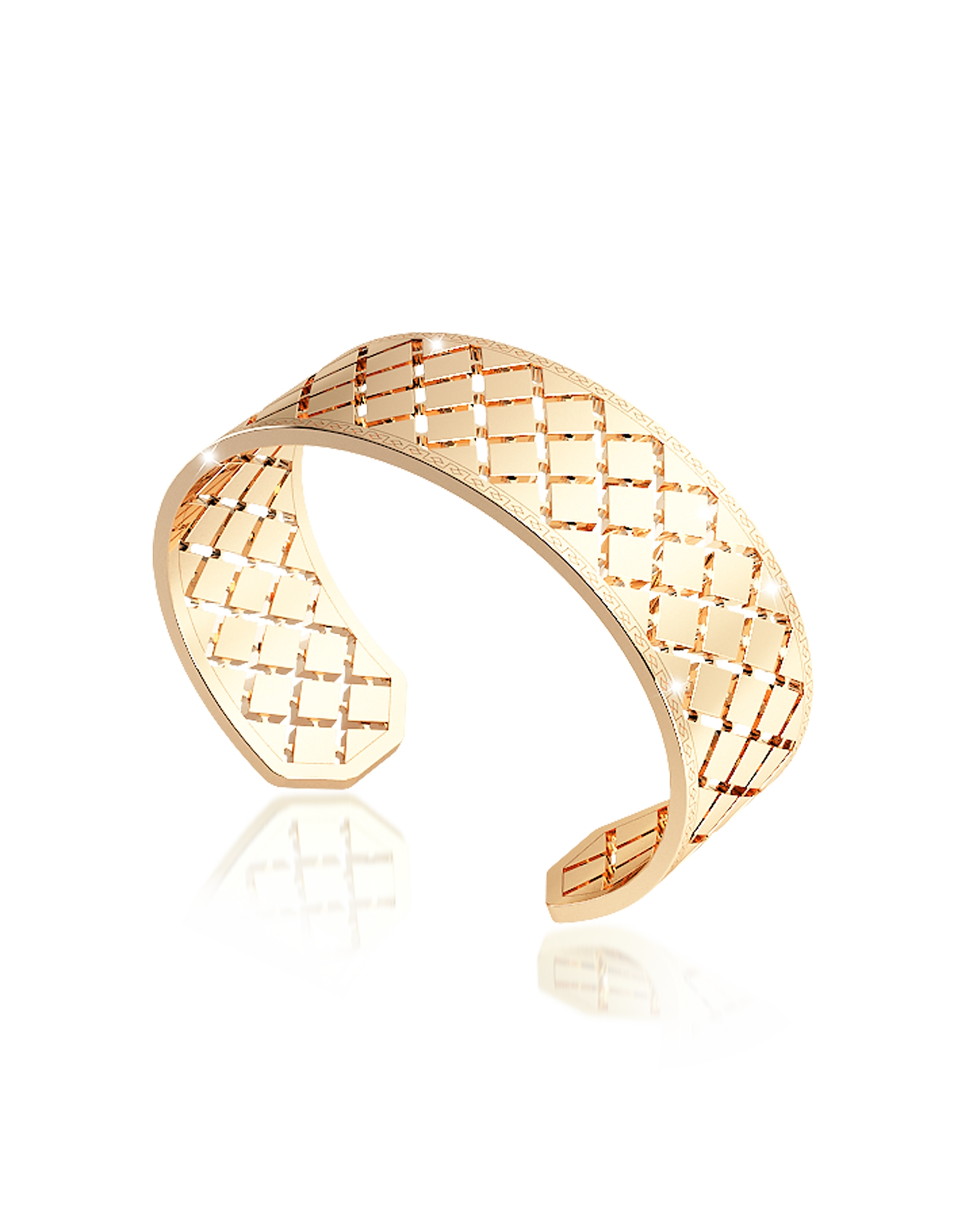 Rebecca Bracelets, Melrose Yellow Gold Over Bronze Bangle Bracelet