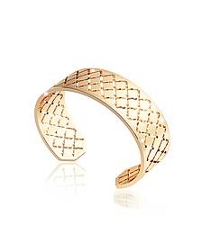 Melrose Yellow Gold Over Bronze Bangle Bracelet - Rebecca
