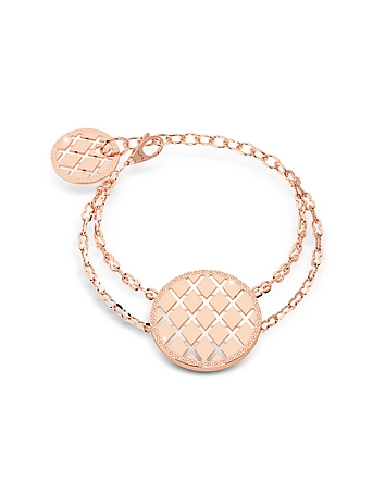 Rebecca - Melrose Rose Gold Over Bronze Bracelet w/Round Charms