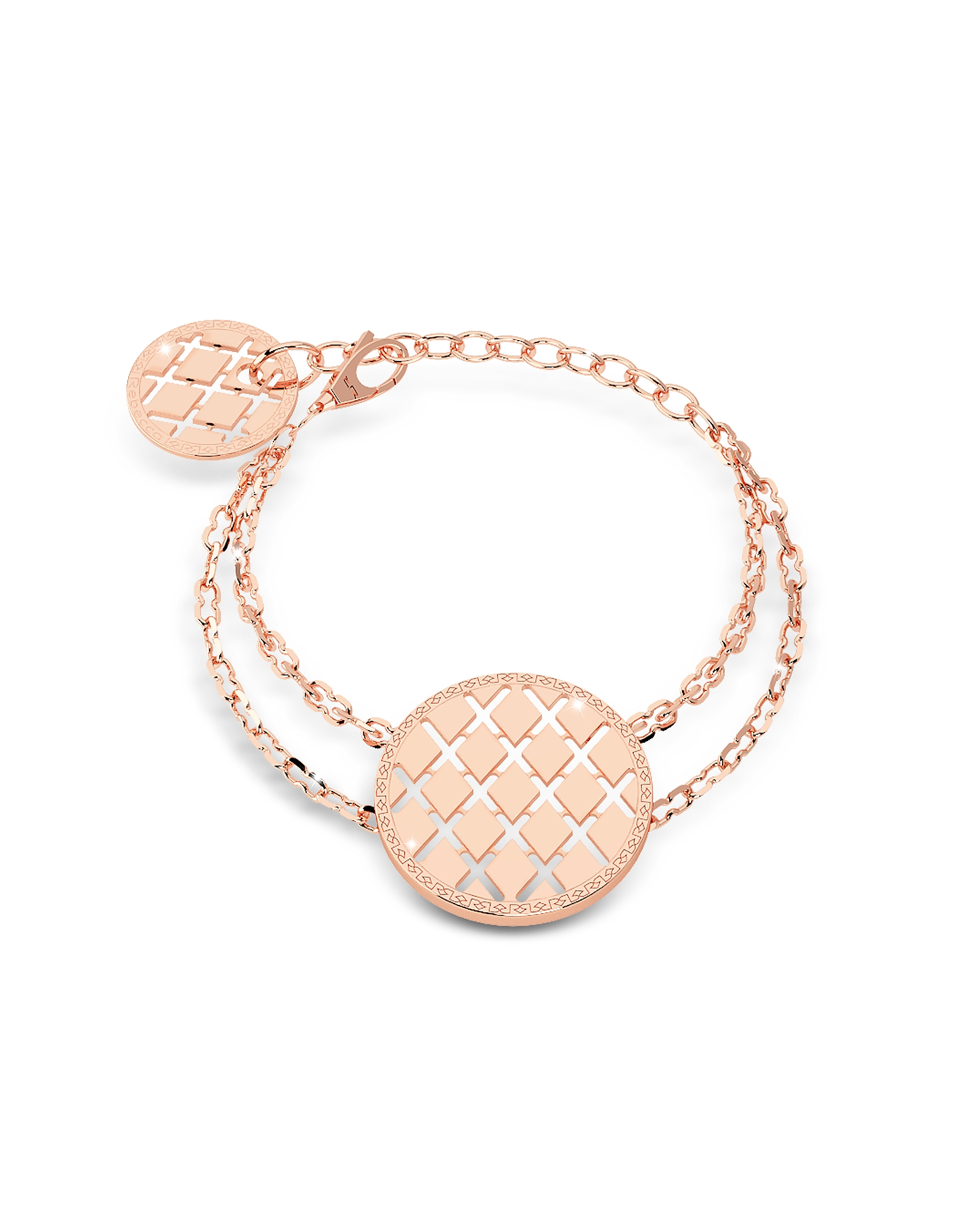Melrose Rose Gold Over Bronze Bracelet w/Round Charms