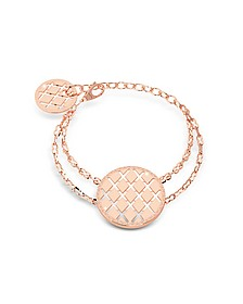 Melrose Rose Gold Over Bronze Bracelet w/Round Charms - Rebecca