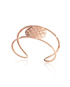 Melrose Rose Gold Over Bronze Cuff Bracelet - Rebecca