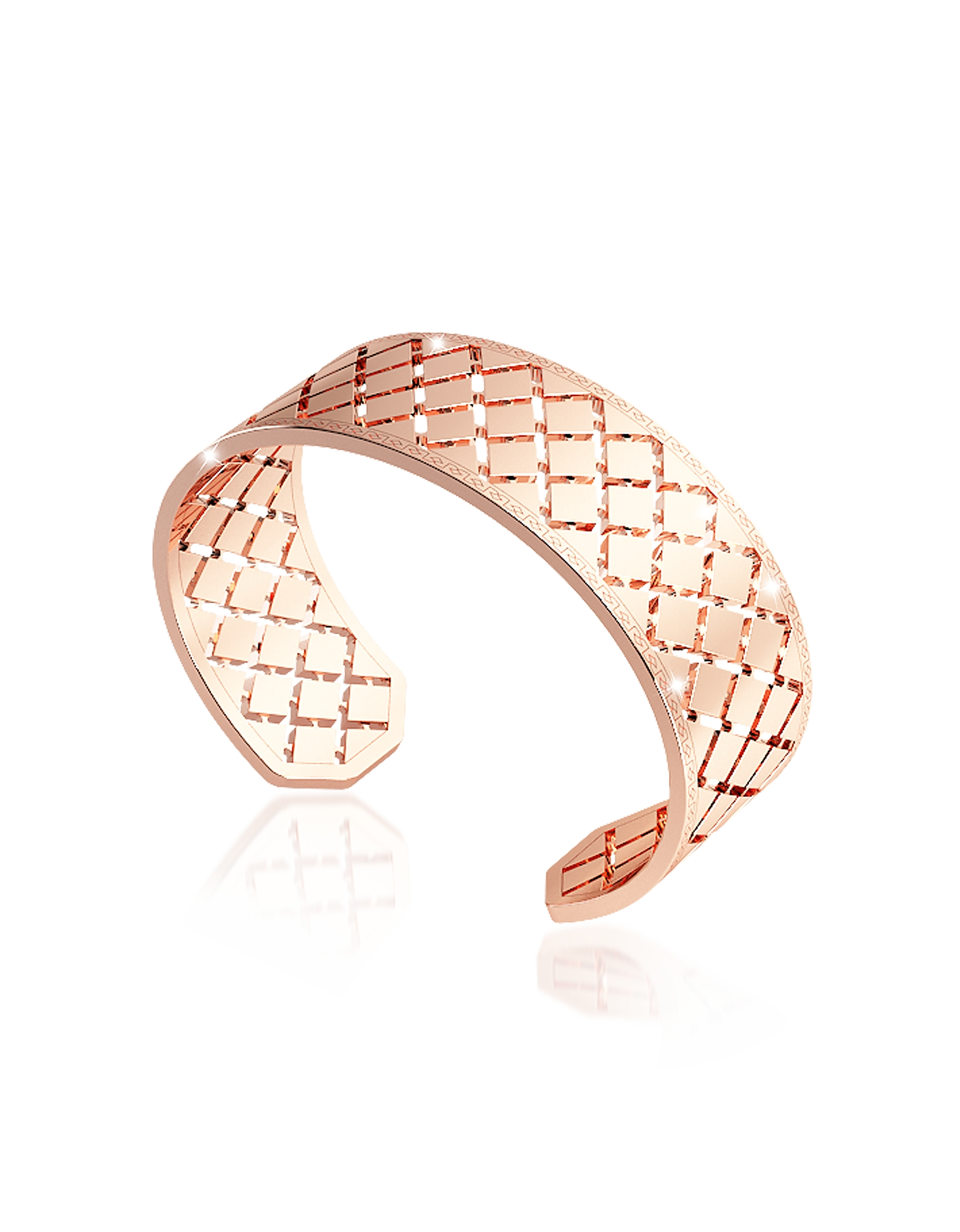 Rebecca Bracelets, Melrose Rose Gold Over Bronze Bangle Bracelet