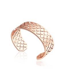 Melrose Rose Gold Over Bronze Bangle Bracelet - Rebecca