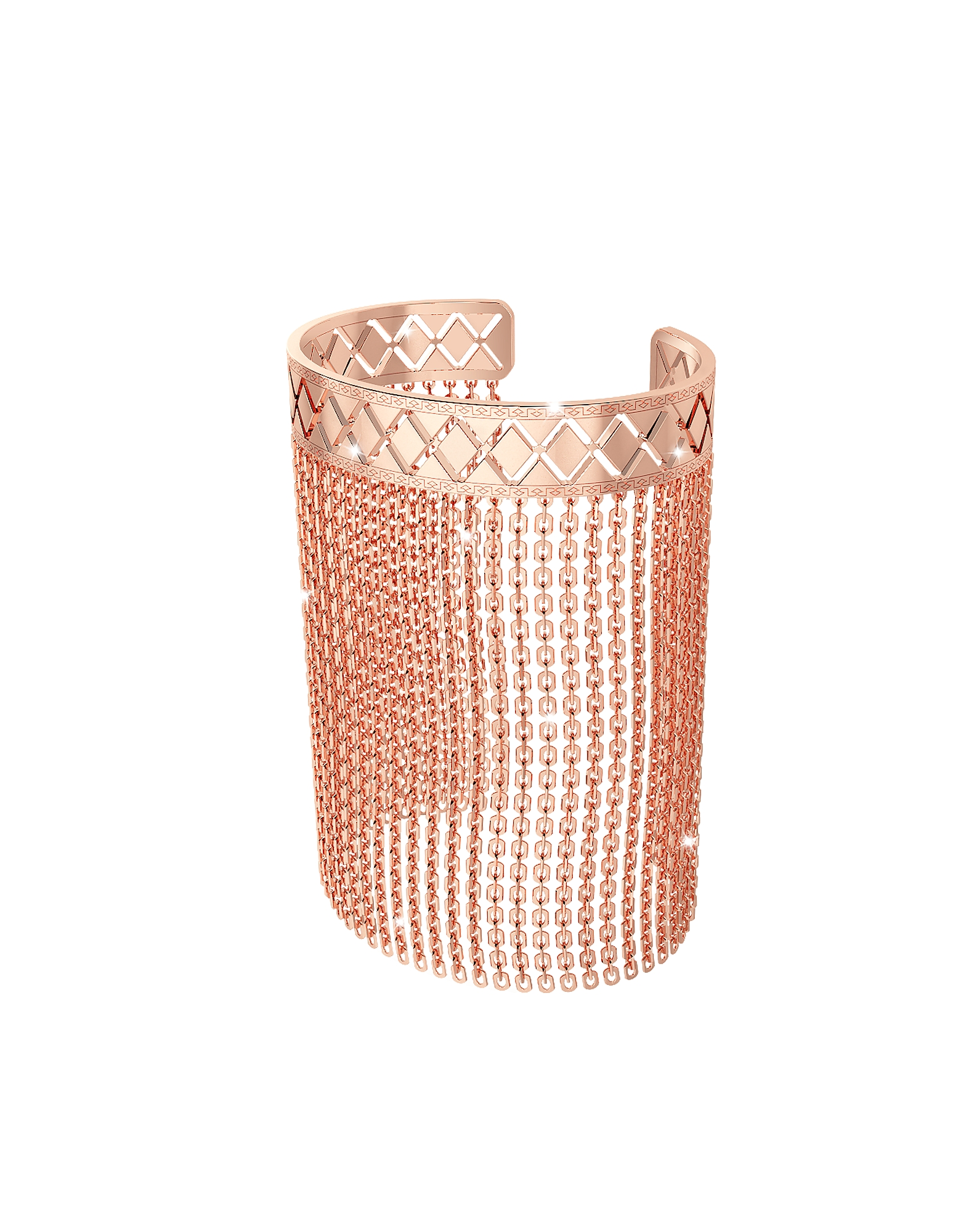 Rebecca Bracelets, Melrose Rose Gold Over Bronze Mesh Bracelet
