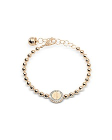 Boulevard Stone Yellow Gold Over Bronze Bracelet w/Stones - Rebecca