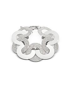 R-Zero Rhodium Over Bronze and Steel Maxi Chain Bracelet - Rebecca