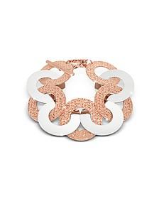 R-Zero Rose Gold Over Bronze and Steel Maxi Chain Bracelet - Rebecca