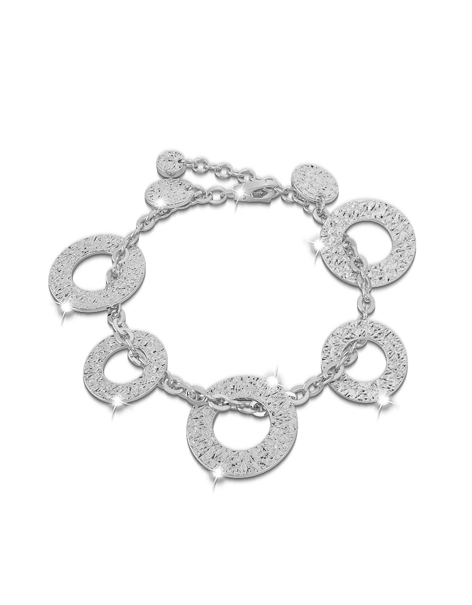 R-ZERO Rhodium Over Bronze Bracelet