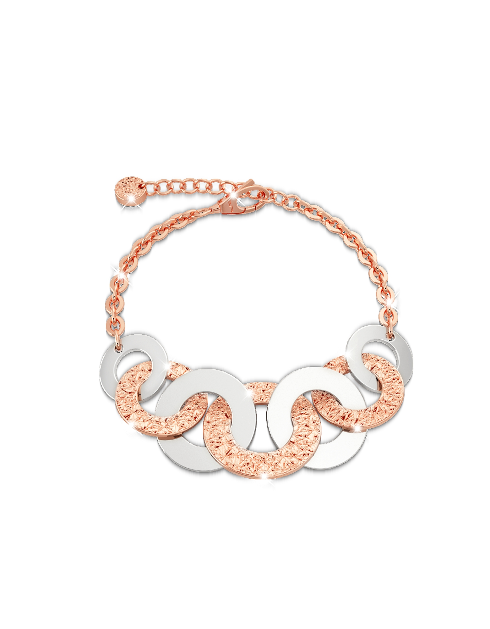 Rebecca Bracelets, R-ZERO Rose Gold Over Bronze Bracelet