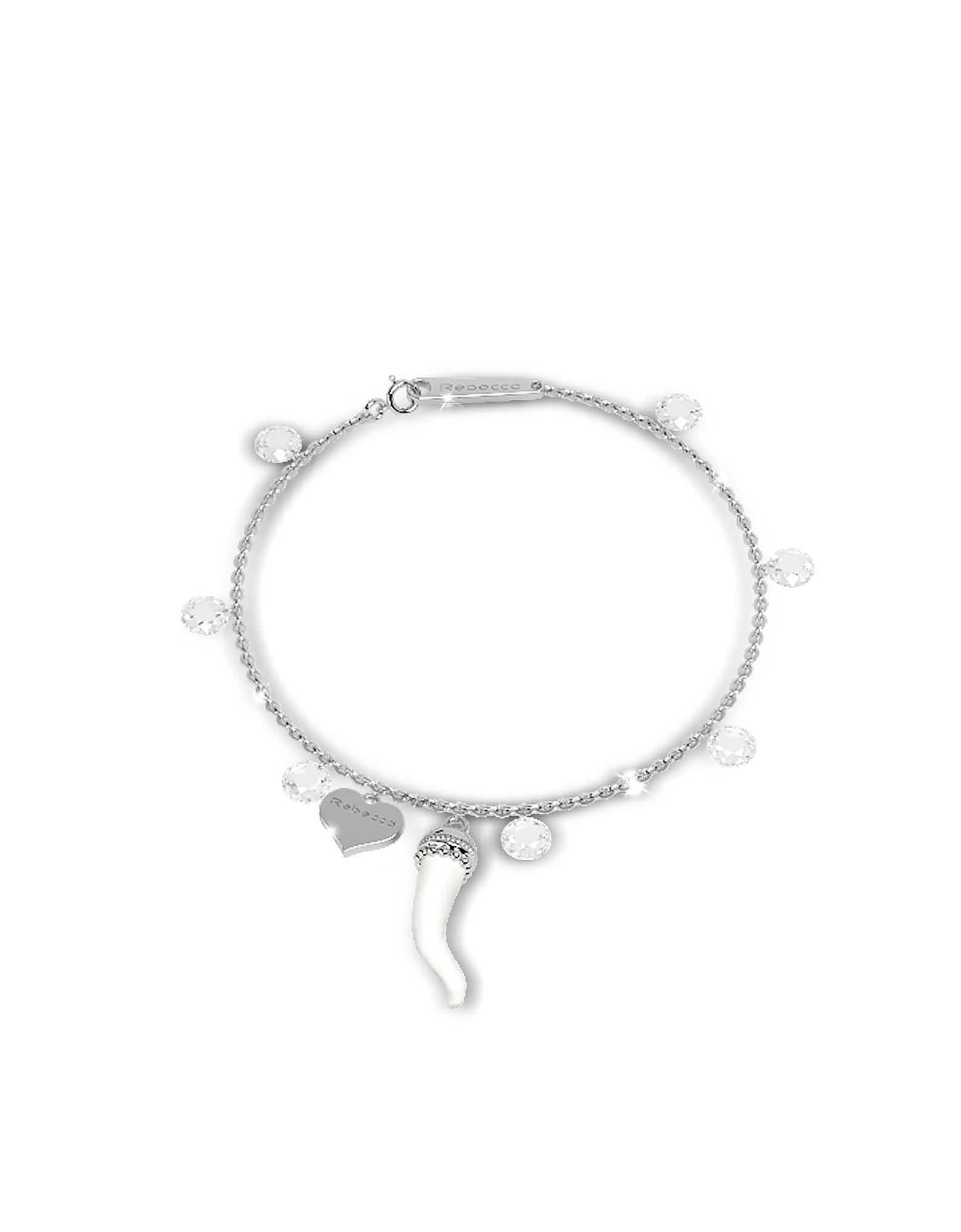 Lucciole Sterling Silver Bracelet w/Crystals