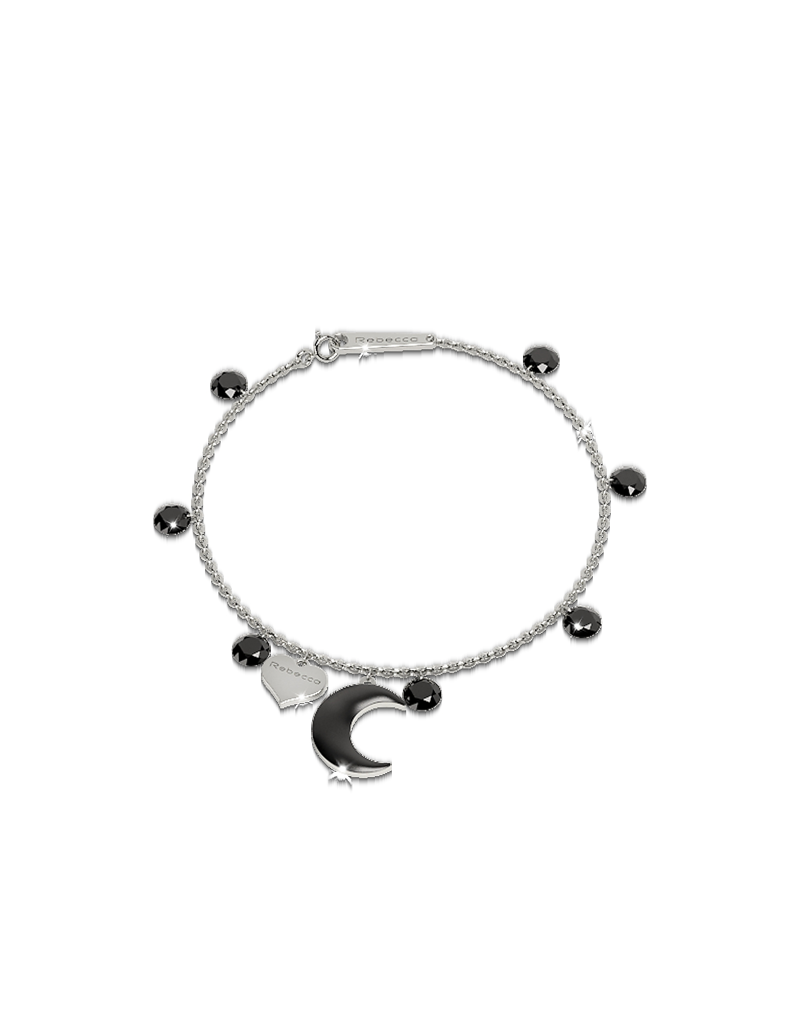 Lucciole Sterling Silver Bracelet w/Black Crystals