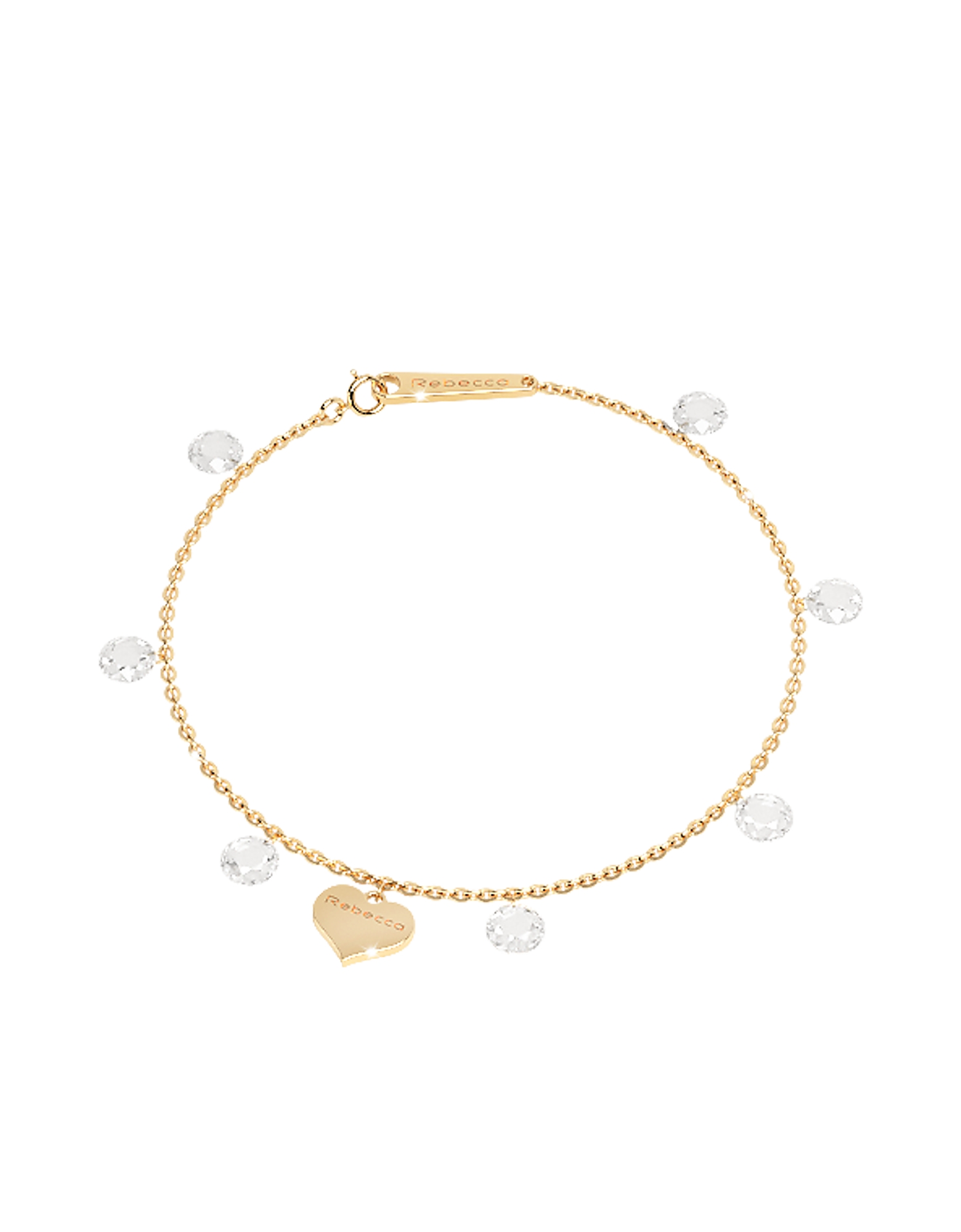 Lucciole Sterling Silver Gold Plated Bracelet w/Crystals