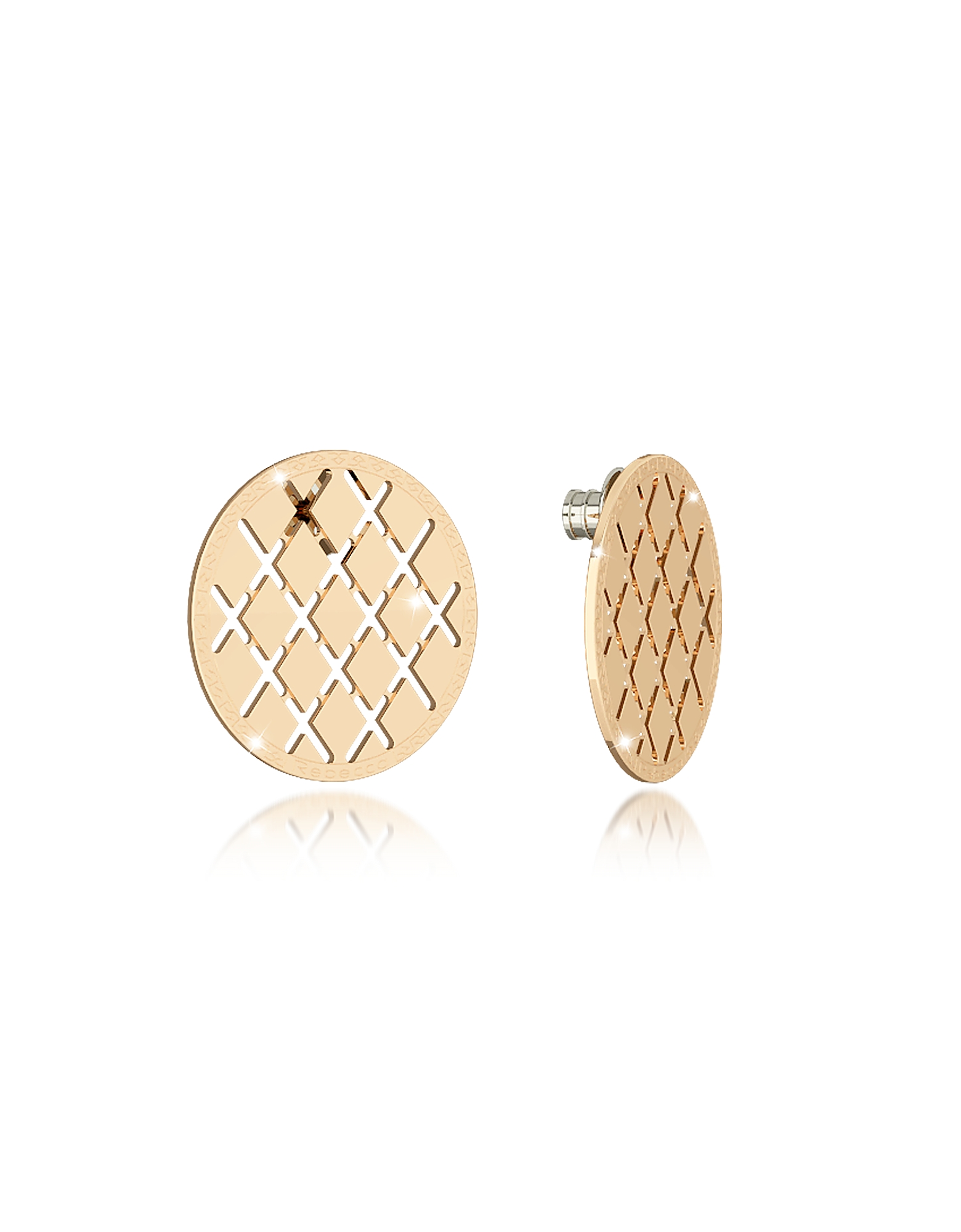 Melrose Yellow Gold Over Bronze Stud Earring