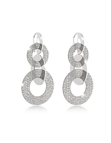 Rebecca - R-Zero Rhodium Over Bronze Dangle Earrings