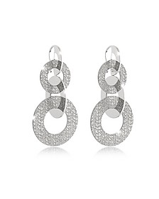 R-Zero Rhodium Over Bronze Dangle Earrings  - Rebecca