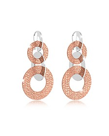 R-Zero Rose Gold Over Bronze Dangle Earrings  - Rebecca