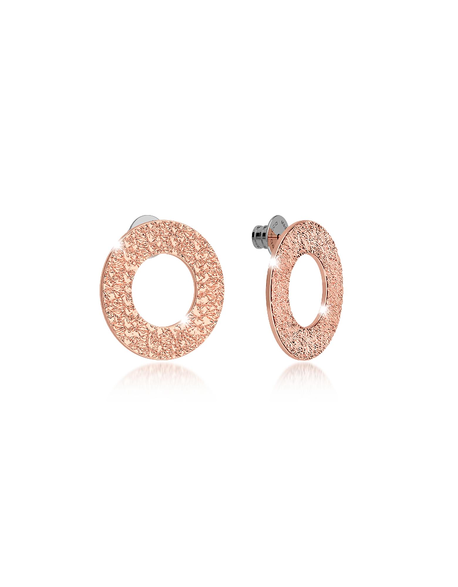 R-Zero - Серьги Гвоздики из Бронзы с Напылением Розового Золота