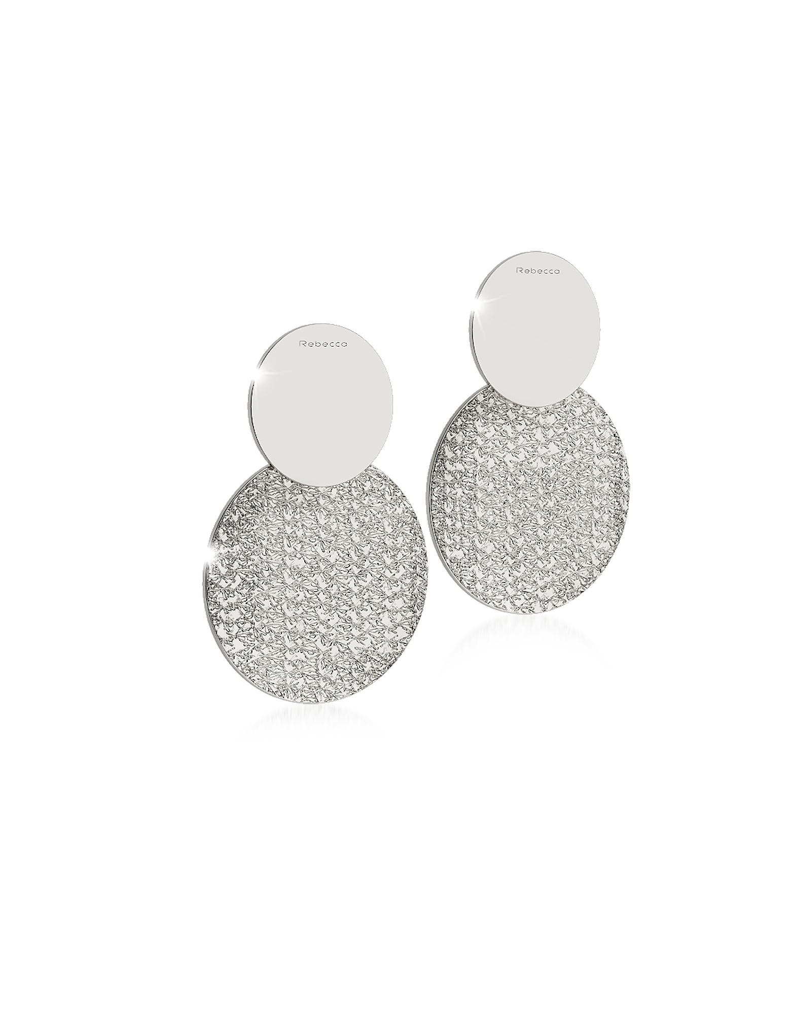 Rebecca Earrings, R-ZERO Rhodium Over Bronze Drop Earrings
