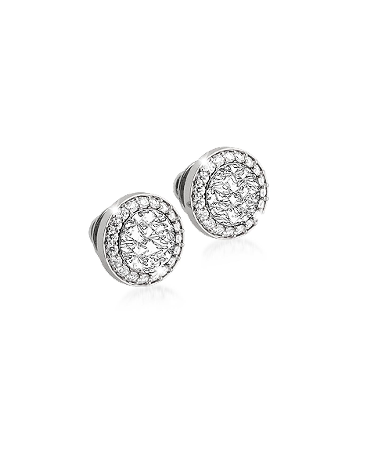 R-ZERO Rhodium Over Bronze Stud Earrings