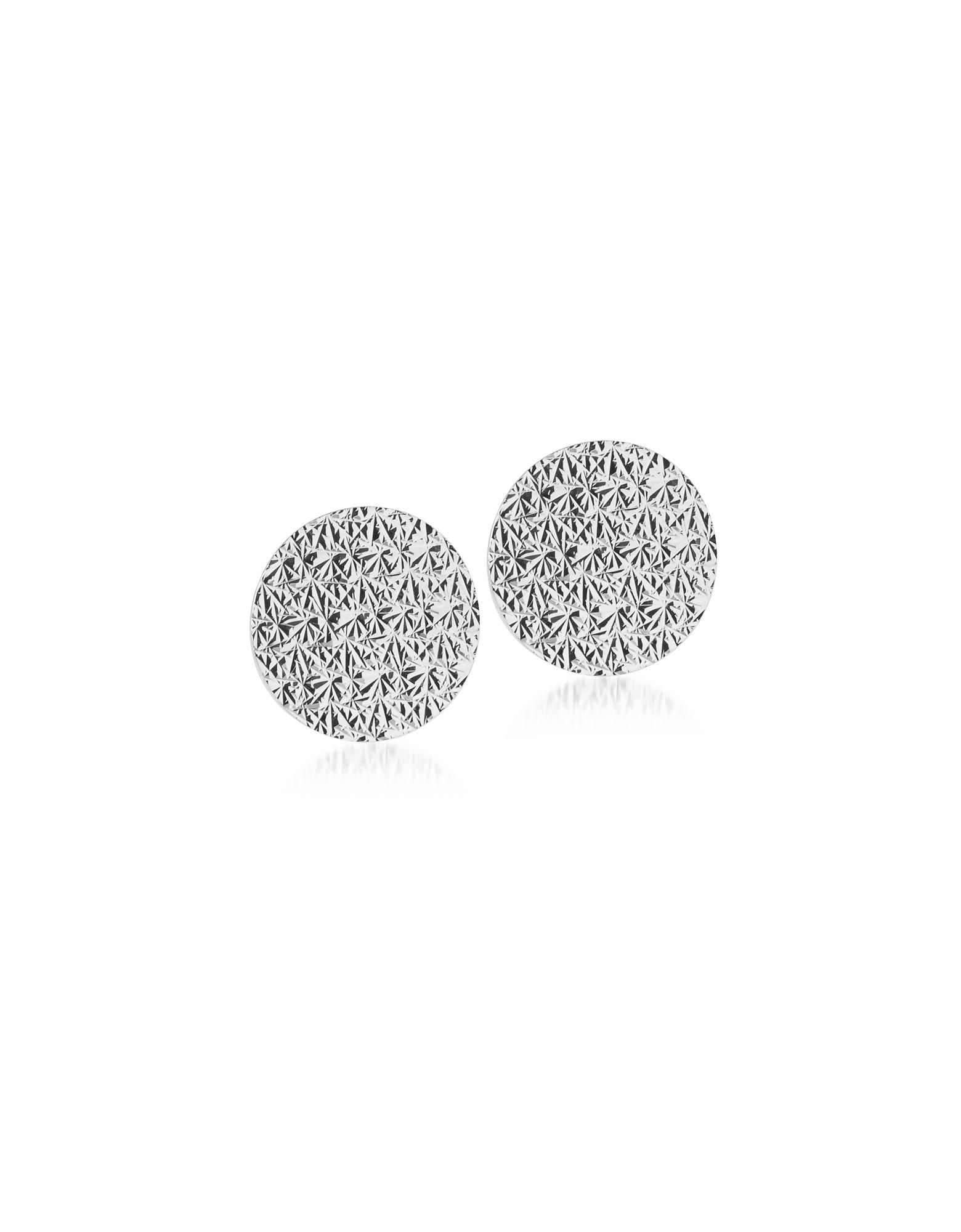 R-ZERO Rhodium Over Bronze Round Earrings
