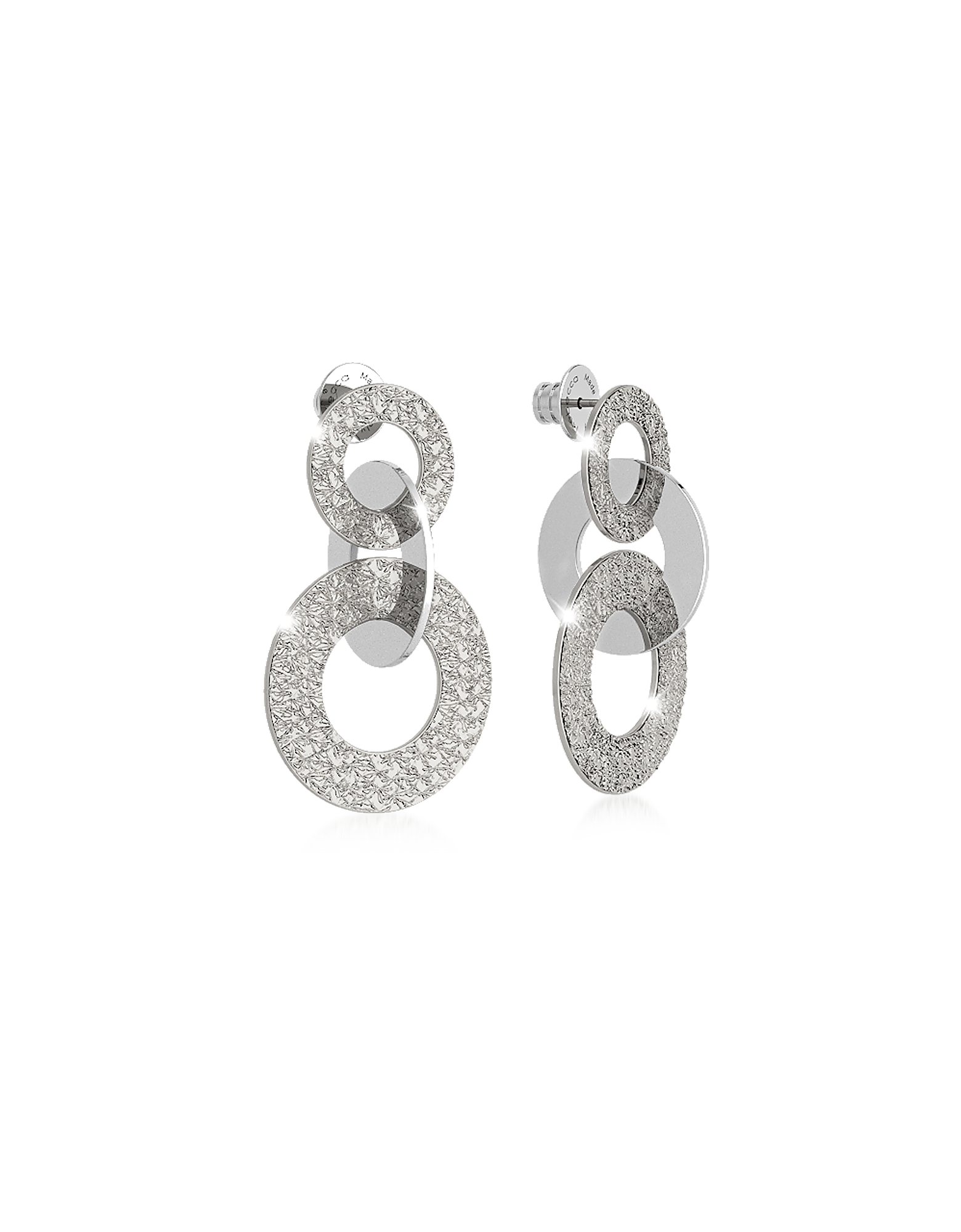 Rebecca Earrings, R-ZERO Rhodium Over Bronze Earrings