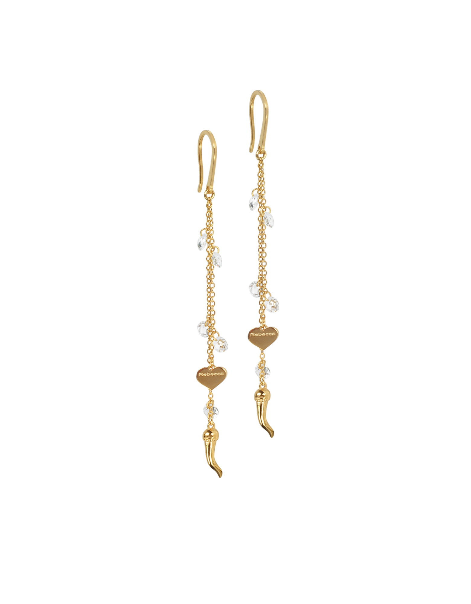 Lucciole Gold Plated Sterling Silver Earrings w/Crystals