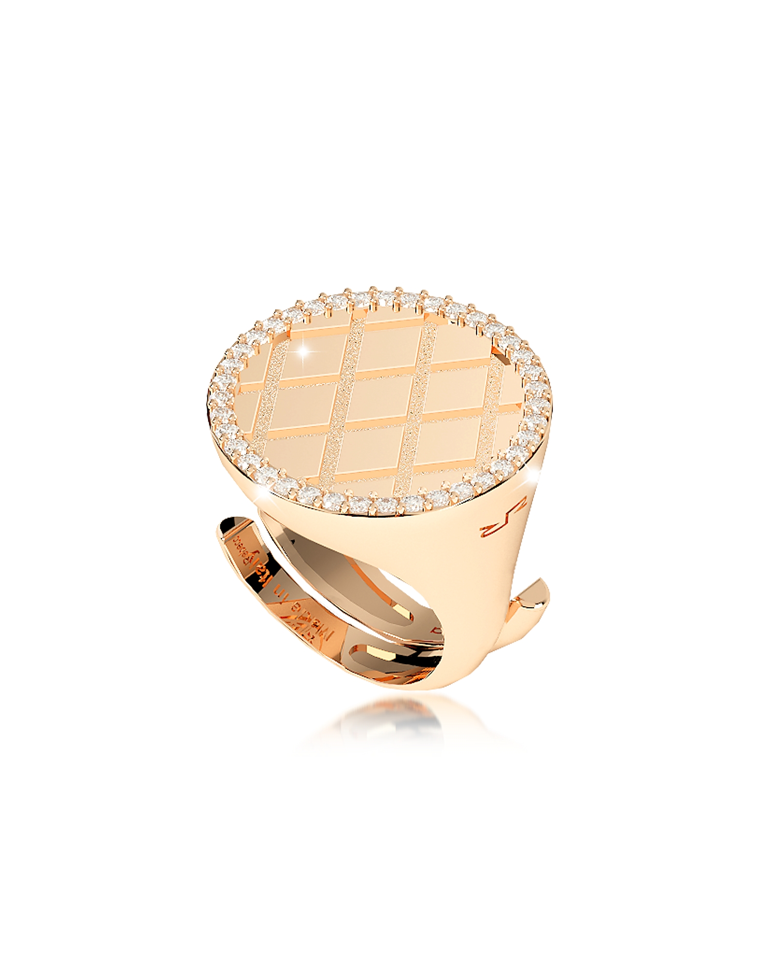 Melrose Yellow Gold Over Bronze Ring w/Cubic Zirconia