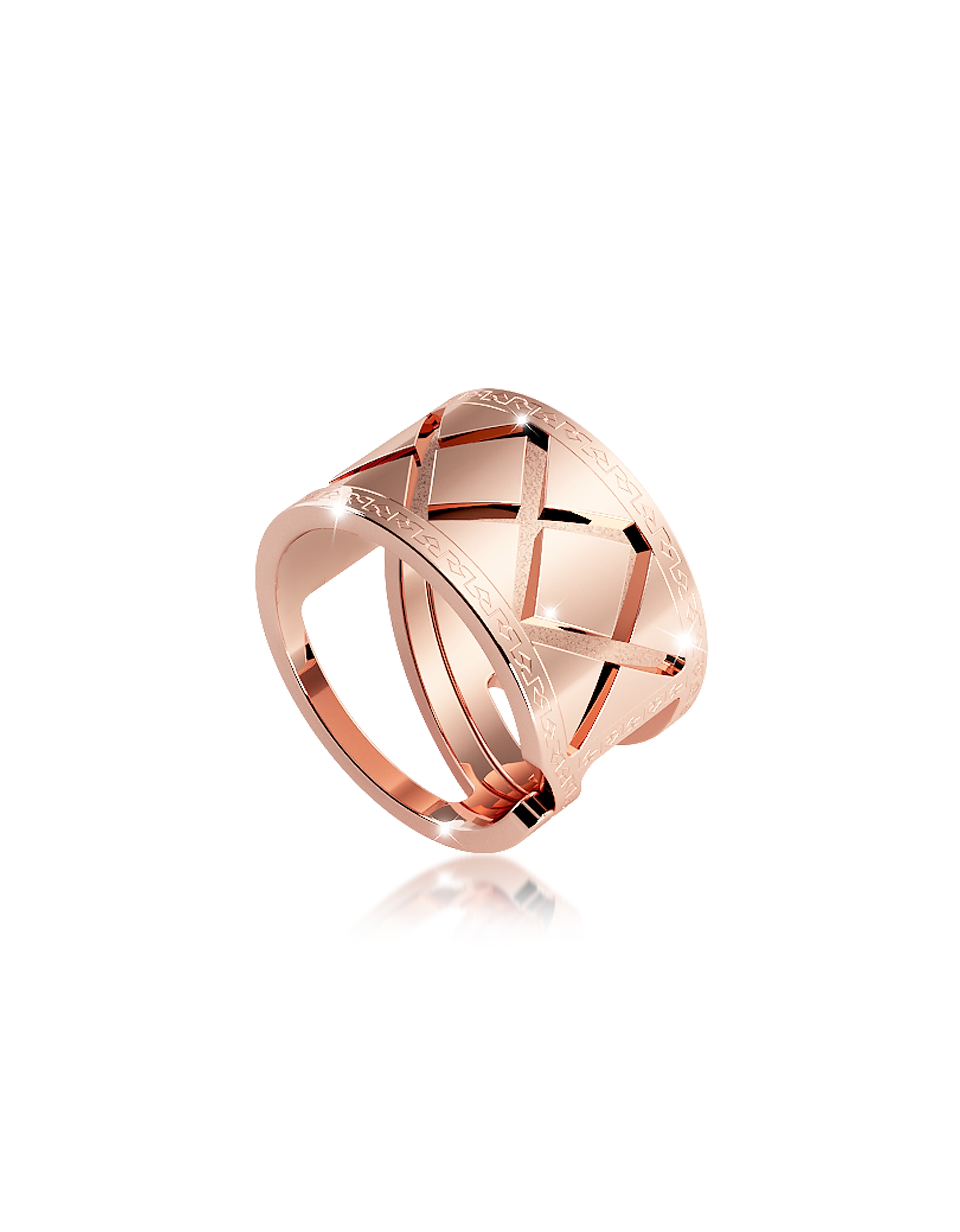 Rebecca Rings, Melrose Rose Gold Over Bronze Ring