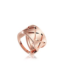 Melrose Ring aus vergoldeter Bronze in rose - Rebecca