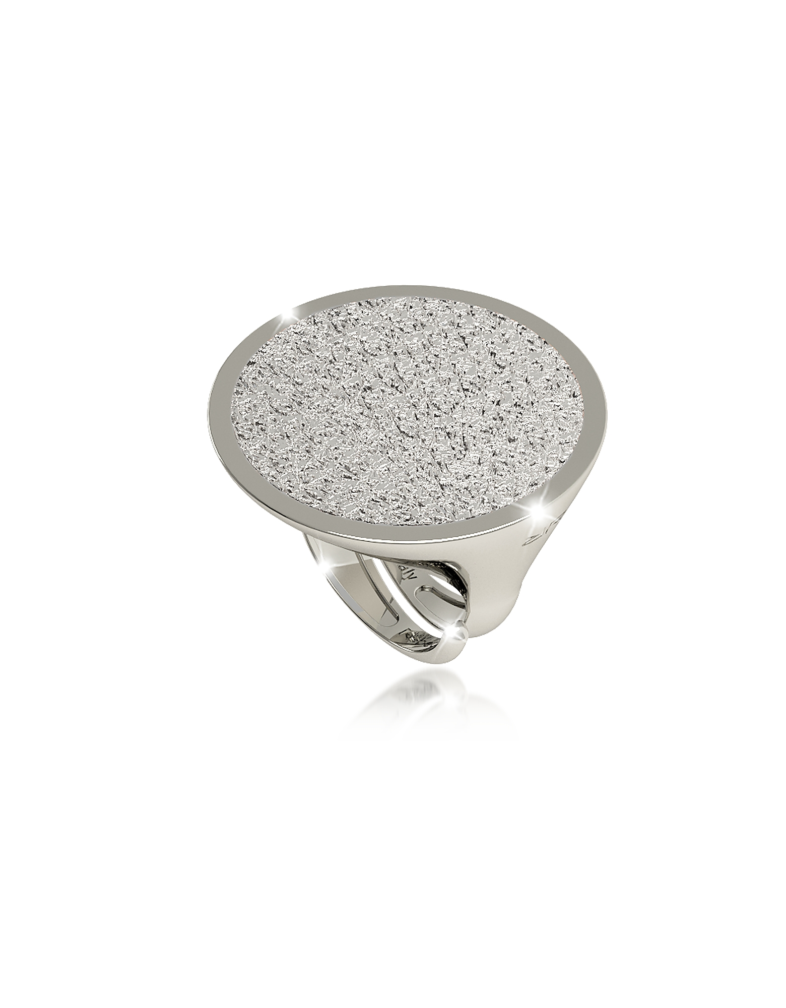 Rebecca Rings, R-Zero Rhodium Over Bronze Ring